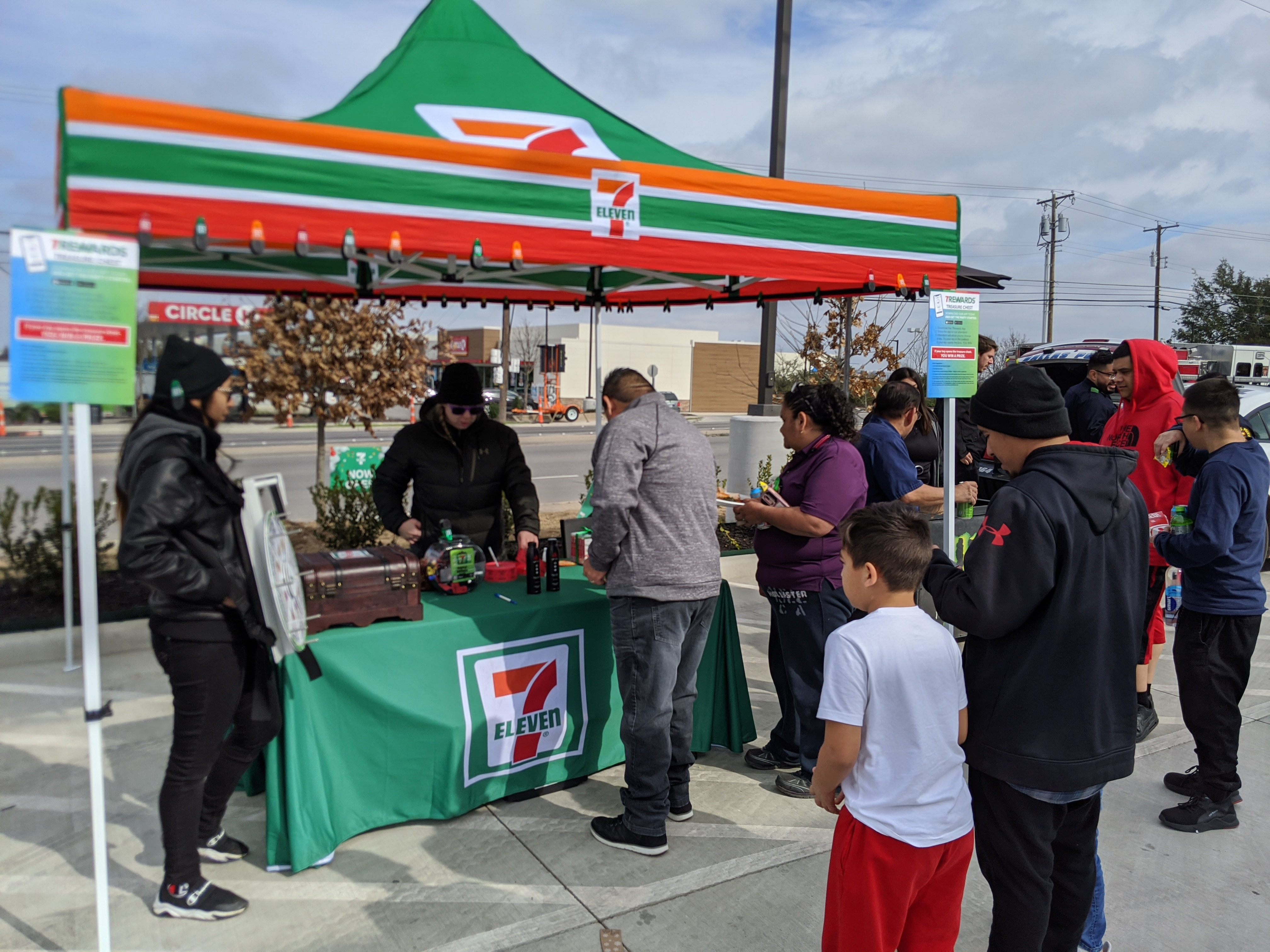 7-Eleven Grand Opening Game Tent